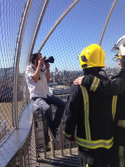 Photographer Dan Kitwood gets in position, but misses out on the incredible view